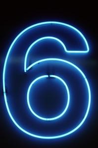 Neon Numbers 6